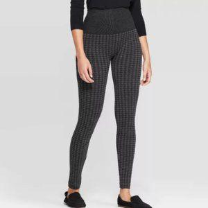 Women's Seamless High Waist Houndstooth Sweater